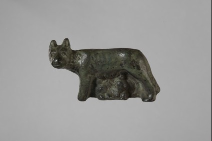 Bronze figurine of the she-wolf suckling Romulus and Remus, the legendary founders of Rome