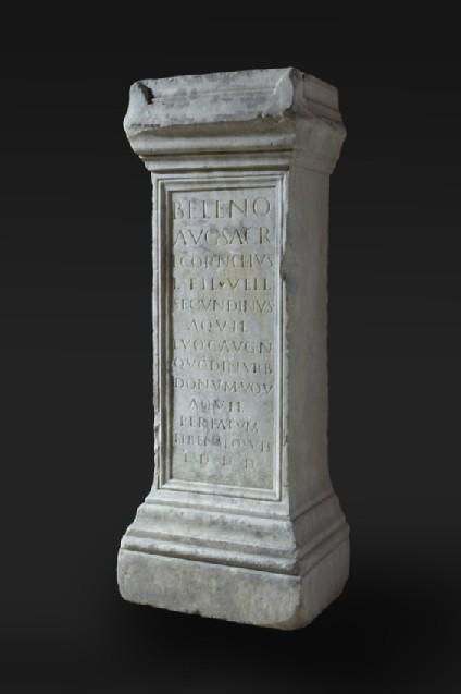 Altar with Latin inscription to Lucius Cornelius Secundinus