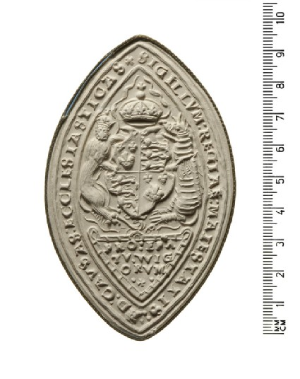 Seal of the King's Majesty 'ad causas' for the Church, Worcester, England
