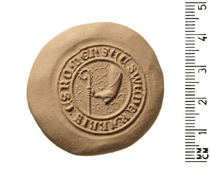 Secret seal of Sweder, Abbot of Esrom, in the diocese of Roskilde, Denmark