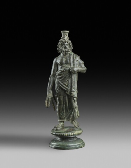Bronze statuette of Serapis with a grain measure on his head