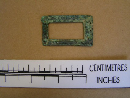 Bronze plate from buckle