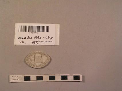 Plaster cast of seal inscribed 'S. Nicolai Prioris de Davintre'