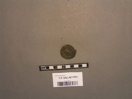 Disc brooch, barbaric imitation of a Roman coin