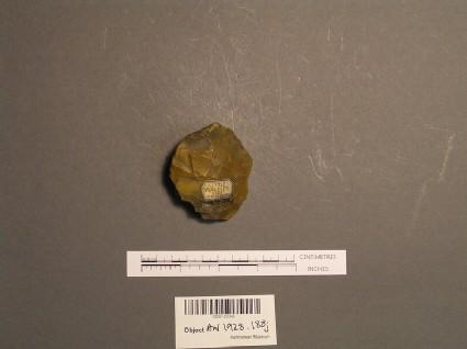 Handaxe fragment, rolled