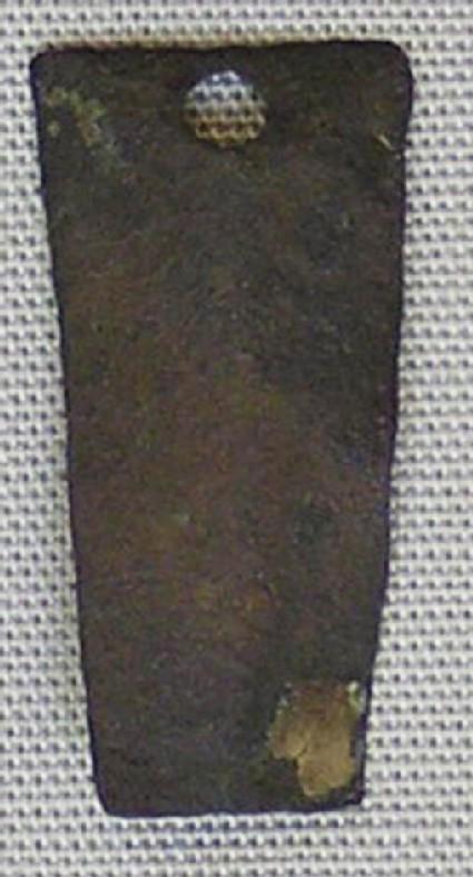 Bronze letter fragment