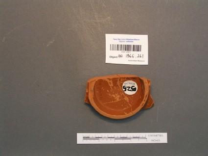 Base sherd of Samian ware dish stamped SEVERIAN