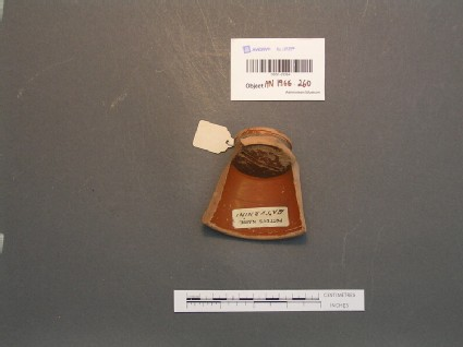 Sherd from Samian ware cup stamped SATURNINI