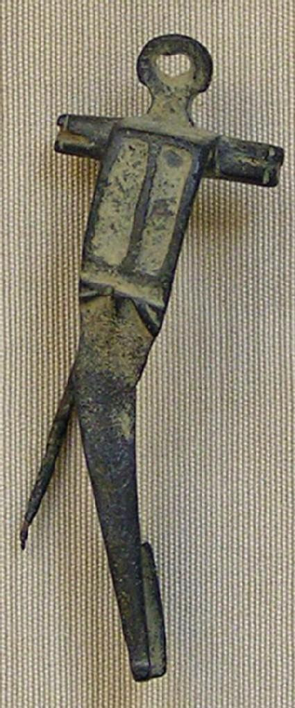 Bronze fibula bow shaped