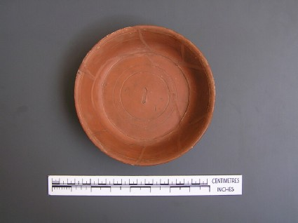 Samian bowl with maker's stamp S.M.F