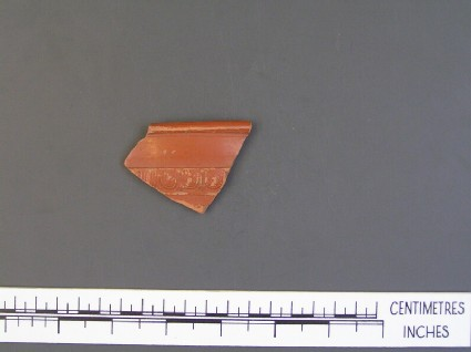 Bowl sherd with decoration
