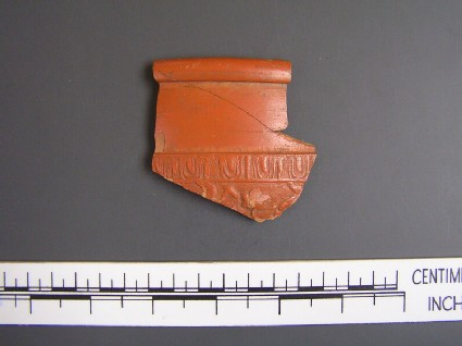 Bowl sherds with frieze of birds perching in tree