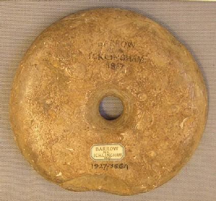 Perforated limestone disc