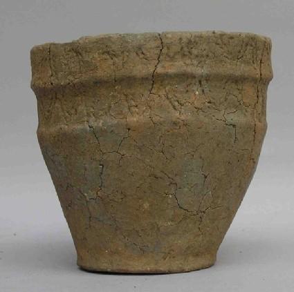 Tripartite collared urn