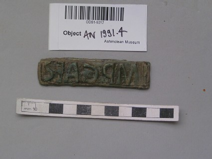 Bronze stamp, inscribed IMPCAES