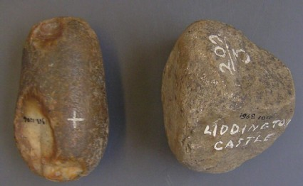 One of eight stone pounders or hammerstones
