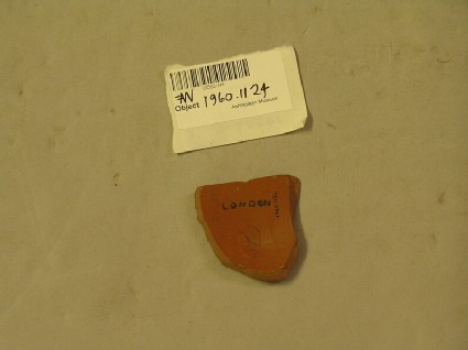 Samian plate fragment marked PASSIENI