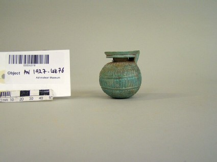 Faience aryballos