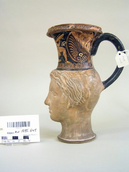 Attic red-figure rhyton in the form of the head of Venus