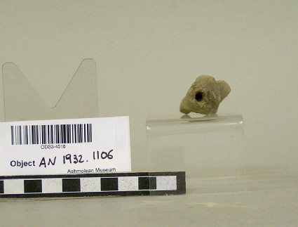 Animal figurine, head of a dog