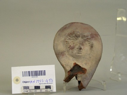 Fragment of volute krater decorated with moulded Medusa mask