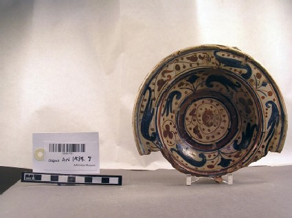 Bowl fragment of Valencian lustre ware