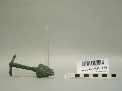 Bronze handle terminating in a satyr head