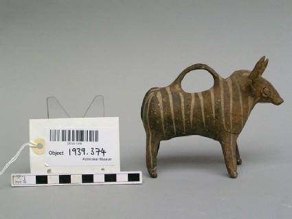 Bull Vase, Base Ring II Ware