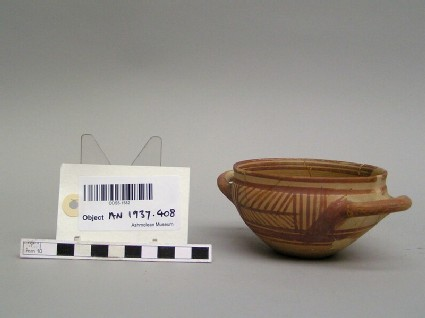 Cup, imitation of Greek skyphos with geometric patter