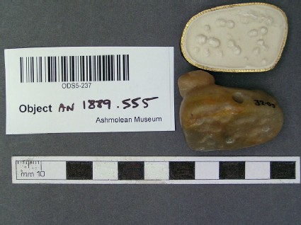 Stamp seal (Reclining bovid) and impression
