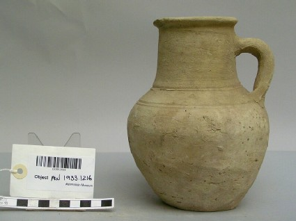 Jug made from baked clay with two handles