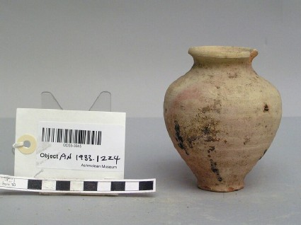 Small vessel made from baked clay