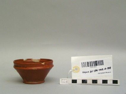 Red-slipped cup made in Arezzo by Publius Cornelius