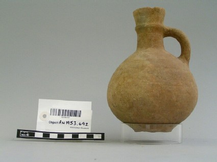 Whole baked clay jug