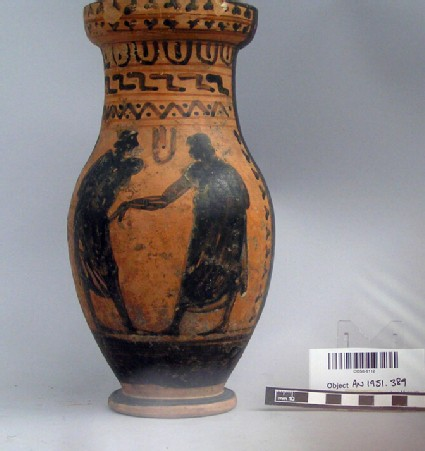 Attic black-figure round-mouthed oinchoe jug
