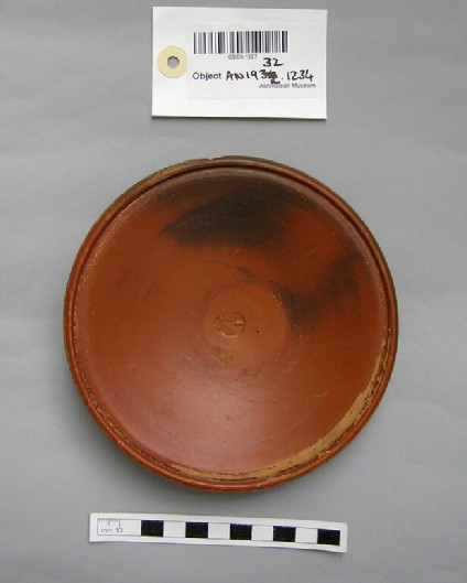 Red glaze dish