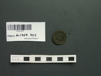 Brooch, imitation of Roman coin
