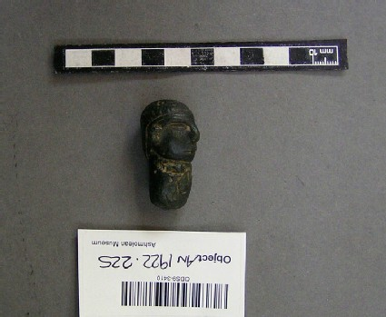 Bronze male head