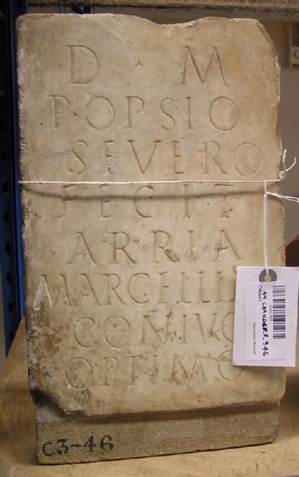 Funerary Latin inscription for POPSIUS SEVERUS