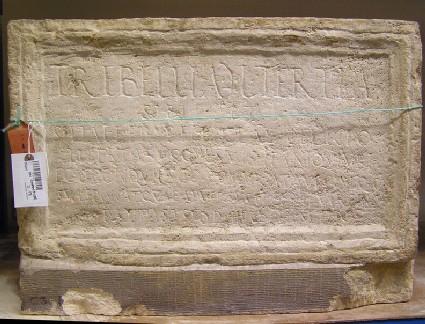 Funerary Latin inscription for Trebella Tertia
