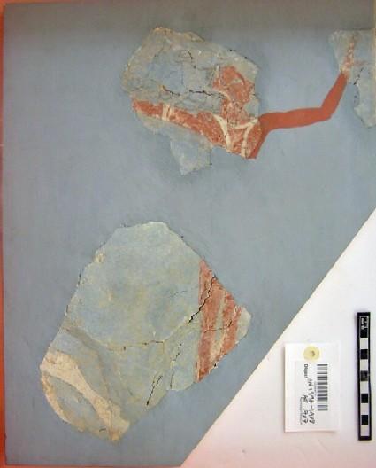 Fresco fragment showing bull-leaper