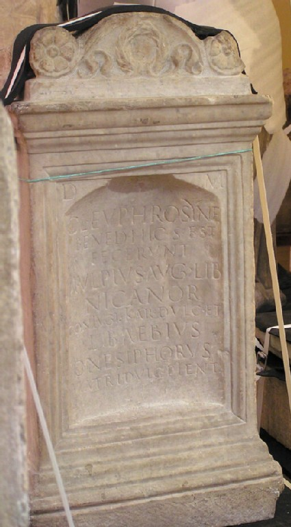 Grave relief with Latin inscription