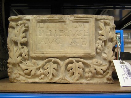 Cinerarium with Latin inscription