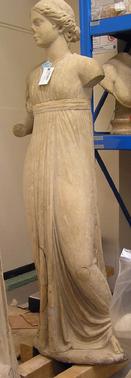 Female draped figure