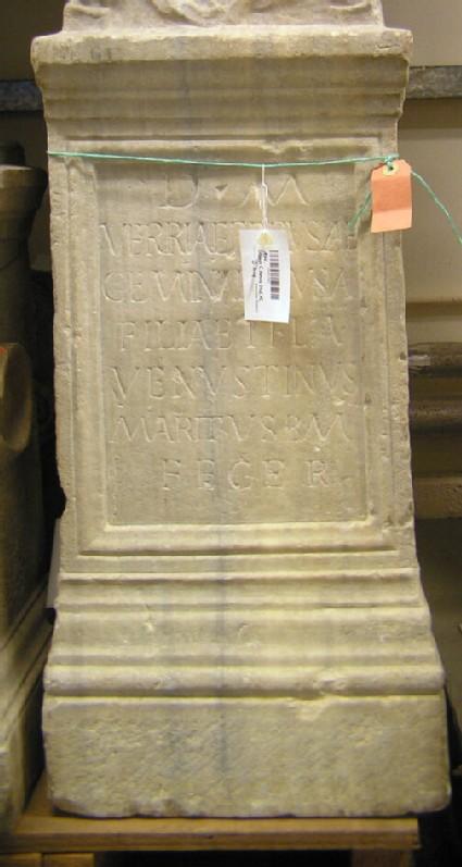 Tombstone with Latin inscription for Verria Ferusa