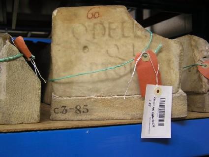 Fragment of Latin funerary inscription