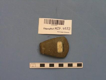 Polished greenstone axe