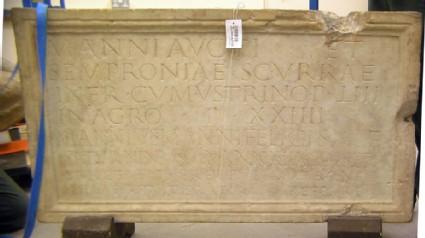 Funerary Latin inscription to Marcus Annius Saturninus