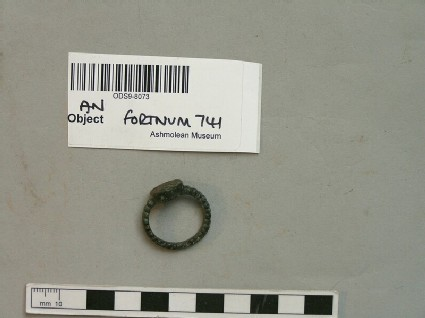 Finger ring inscribed SPES IN DEO