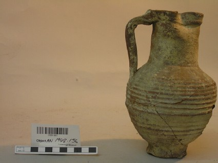 Ribbed jug with trefoil lip